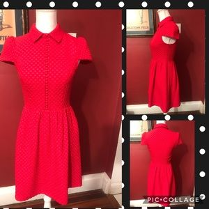 Kensie red button ,adorable dress